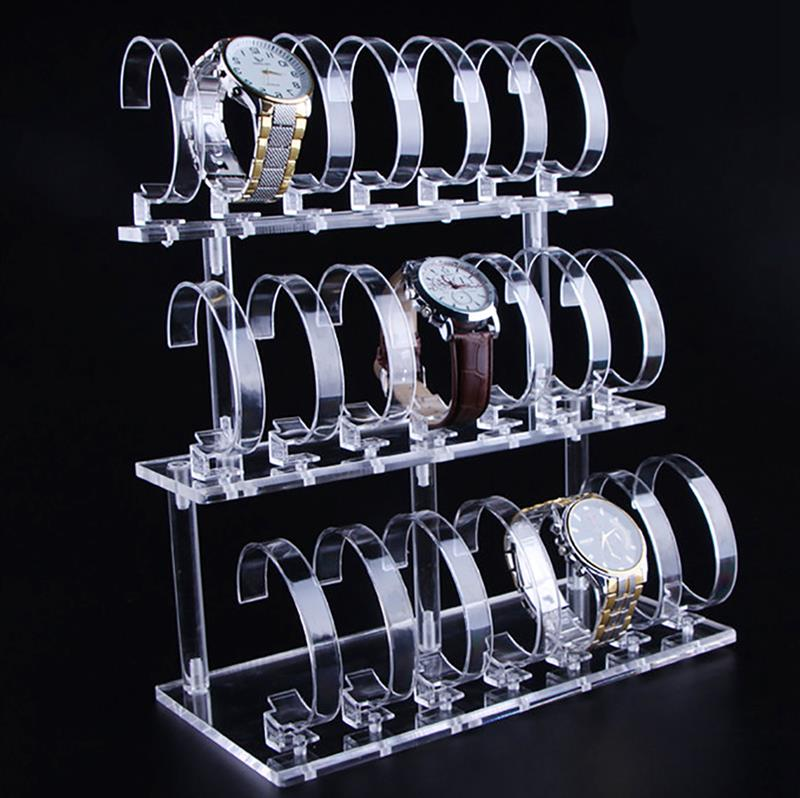 Transparent Acrylic Watch Display Stand Creative Detachable Multi-Purpose Watch Stand Jewelry Display Stand Window Display
