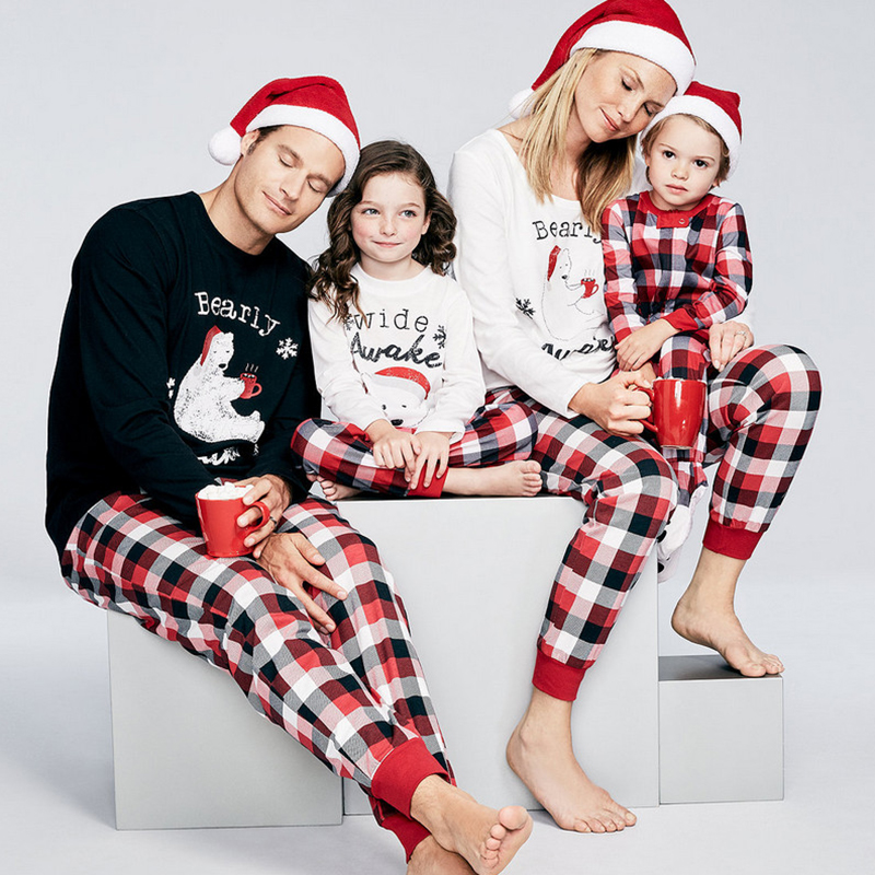 family matching outfits christmas clothes pajamas set father women kids son daughter deer sleepwear nightwear xmas pjs sets - Christmas Clothes For Kids