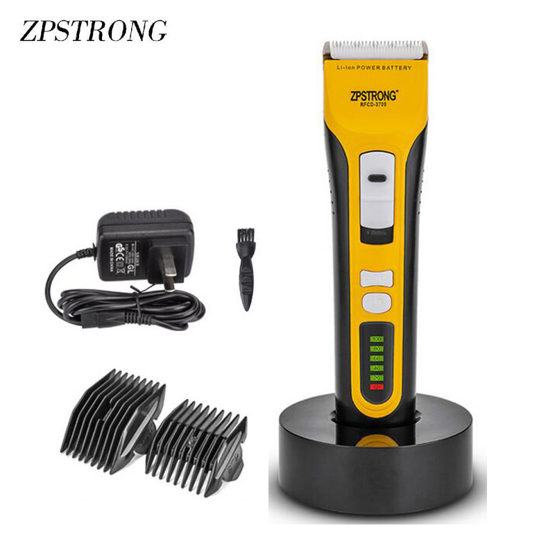 25W Electric Hair Clipper Professional Rechargeable hairclipper Hair Trimmer for Men Baby Salon Tools LED Display 220V/110V lonbv lch 8560 12w rechargeable hair clipper 220v 2 flat pin plug