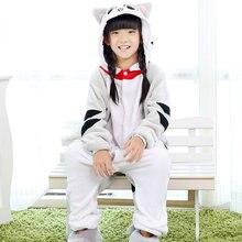 88a80b22ad De niña niño Unisex niños pijamas Chi chico gato de dibujos animados de  animales Cosplay pijama Onesie ropa de dormir Sudadera c.
