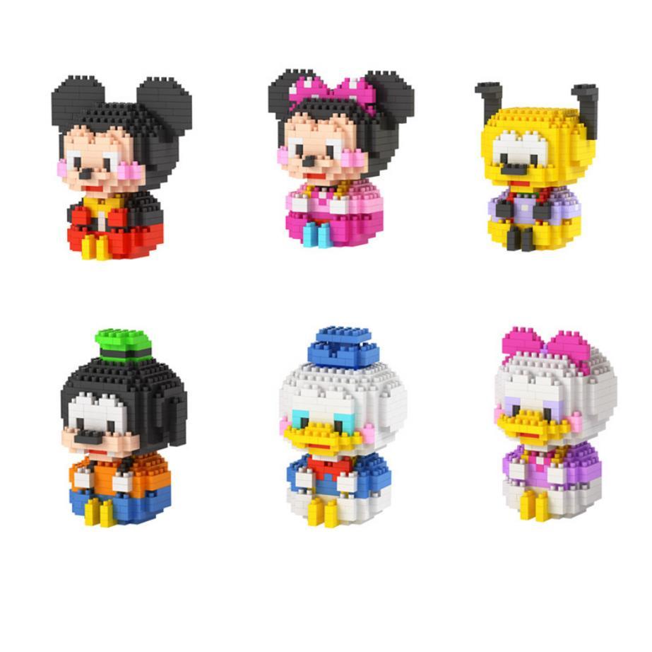 America classic cartoon image mouse duck micro diamond building block Mickey minnie Pluto Donald daisy Goofy