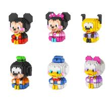 America classic cartoon image mouse duck micro diamond building block Mickey minnie Pluto Donald daisy Goofy nanoblock brick toy