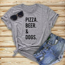 """Pizza, Beer. & Dogs"" women's shirt"