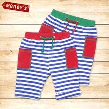 Meney's Kids Summer Pants Shorts for Baby Beach Casual Clothes Striped Pockets Drawstring Children Shorts Navy Pants Boys Shorts