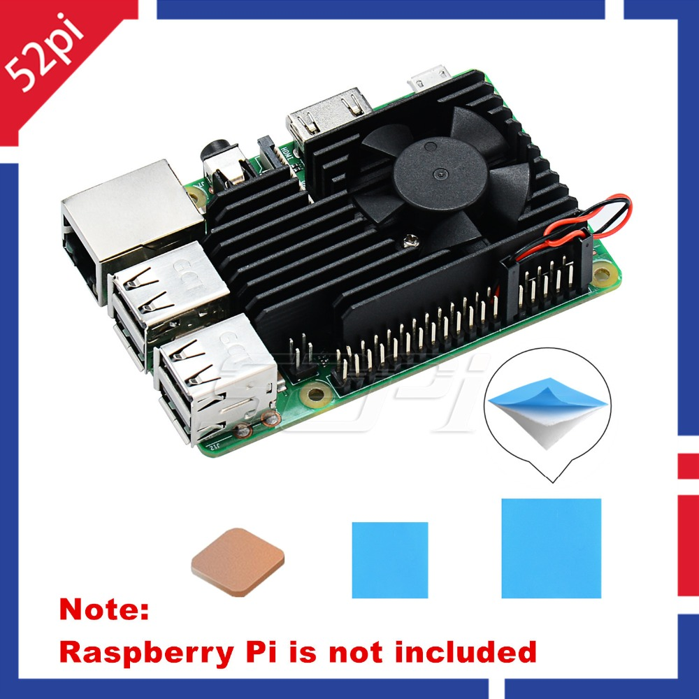 Aluminum Heatsink with Cooling Fan for Raspberry Pi 3 B /& Raspberry Pi 3//2 Model B GeeekPi Raspberry Pi Extreme Cooling Fan Kit