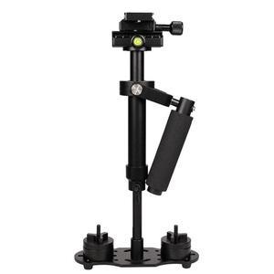Image 1 - S40 アルミ合金ハンドヘルドデジタルポータブル手ぶれ補正電話ホルダーマウントカメラスタビライザー写真アクセサリー
