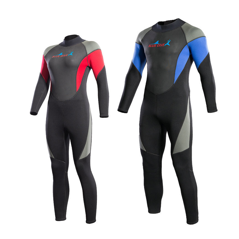 DIVE&SAIL 3MM Diving Suit Keep Warm Full Body Surfing Neoprene Wetsuits Rash Guards Spearfishing Jumpsuit Swimming Equipment