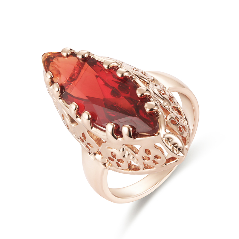 Verlobungsringe Offen Heißer 2017 Blume Kristall Hochzeit Ringe Für Frauen Vintage Look Runde Farbe Gold Mosaic Red Harz Türkei Schmuck