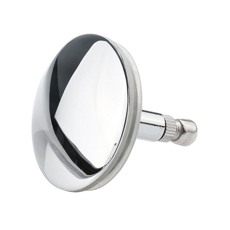 Chrome Bathtub Basin Drain Stopper Plug Bathroom Bath Plug Bathtub Drain Silver