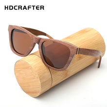 HDCRAFTER New 2017 Fashion 100% Handmade Wood Wooden Sunglasses Cute Design for Men Women Bamboo sun glasses