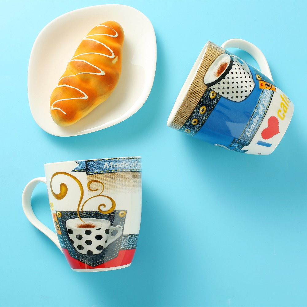 Tea Milk Cup and Coffee Mugs 550ml 19OZ Home Office Creative Cute Drinking Mug Cup Gift Drinkware Ceramic Travel Mug