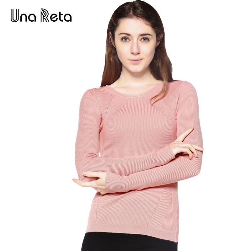Una Reta 2017 New Women Sweater Casual Plus Size High Elasticity O Neck Long Sleeve Pullover