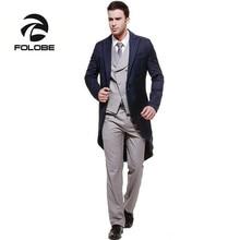 FOLOBE Custom Made 3 Pieces Handsome Men Slim Fits Suits Tuxedos Grooms Suit Men s Wedding