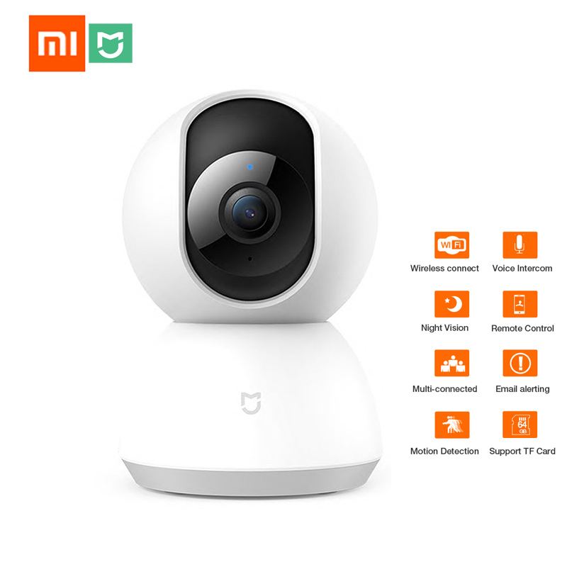 Xiaomi Mijia Smart IP Camera WiFi Pan tilt Night Vision 360 Angle Video Camera Motion Detection Home Security Camera Baby View