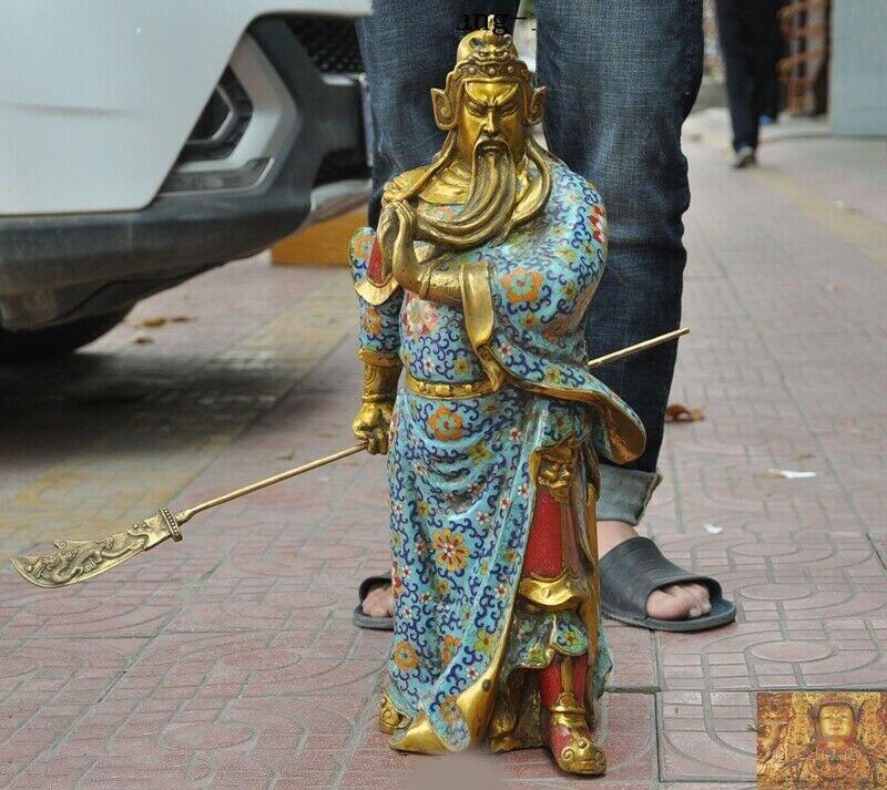 wedding decoration China Bronze Cloisonne enamel Gilt God war Guan Gong Guan Yu warrior God Statuewedding decoration China Bronze Cloisonne enamel Gilt God war Guan Gong Guan Yu warrior God Statue