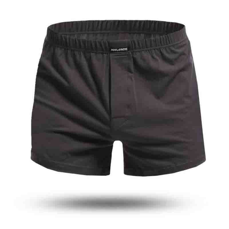 Loose Cotton Men's Flat-angle Shorts Home Comfortable Large Arrow Shorts All-cotton Comfortable Air-permeable Shorts