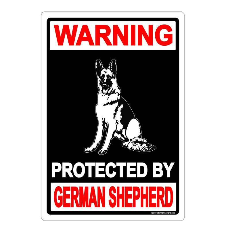 Warning: Protected By German Shepherd. vintage metal signs retro tin plate iron painting wall decorationWarning: Protected By German Shepherd. vintage metal signs retro tin plate iron painting wall decoration