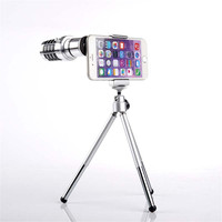 New Arrival 12X Zoom Lens Kit Teleskop Optyczny Obiektywu Kamery Statywu Montażu Telefonu komórkowego Telefonu komórkowego Uniwersalny Dla iPhone Samsung