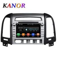 KANOR 1024 600 Octa Core Android 6 0 Car DVD Player For Hyundai Santa Fe 2006
