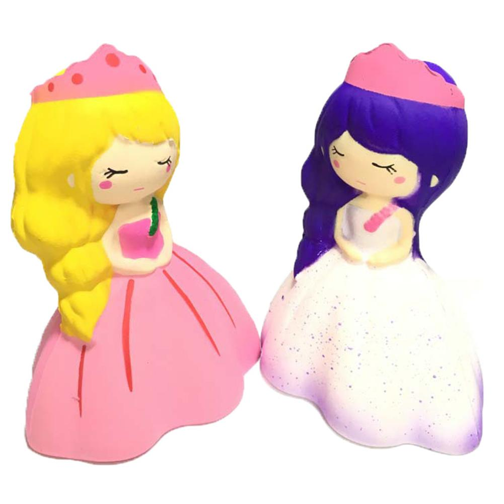 New Creative Jumbo Soft PU Kawaii Slow Rising Anti-stress Toys Princess Girl Japan Squeeze Clay Kids Relief Gas Toy