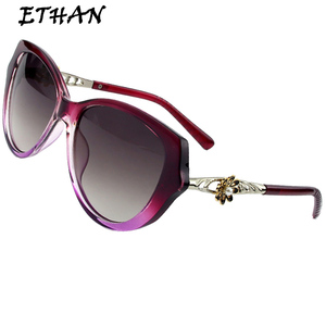 Image 1 - Sunglasses Women Charming Vintage Elegant Flower Decorate Ladies Sun Glasses Luxury Female Sexy Girl Eyewear