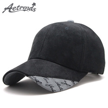 [AETRENDS] Suede Fabric Baseball Cap Men Women Cotton Snapback Hats Z-6244