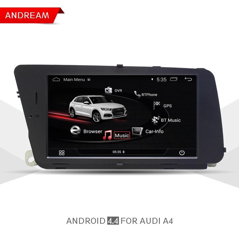 Android Voiture Lecteur Multimédia Pour AUDI A4 (2008-2016 B8) bluetooth Gps Navigation Wifi 7 Affichage Écran EW980A1