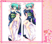Anime Cartoon Hatsune Miku   Double Bolster Hugging  Pillow Case Cover No.cy102