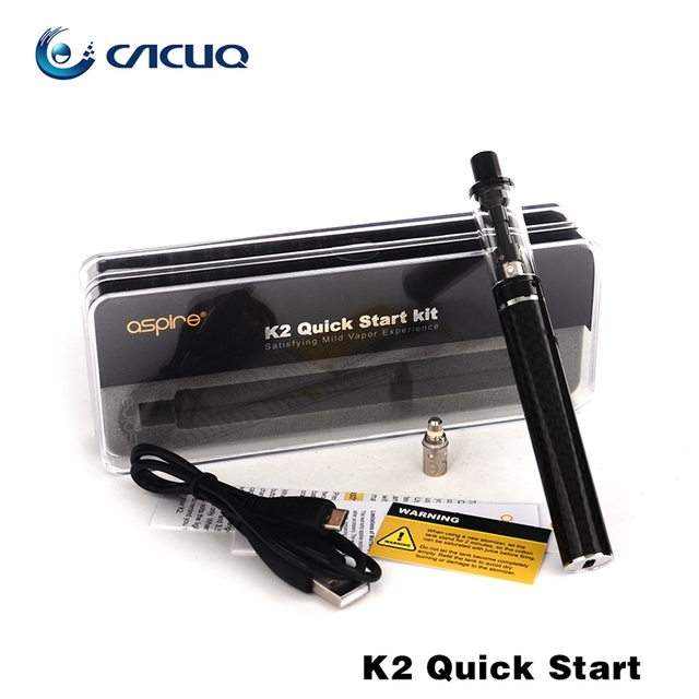 100% Original Aspire K2 Quick Start Kit with 1.8ml tank bvc coil 1.6ohm and 800mah Battery Capacity