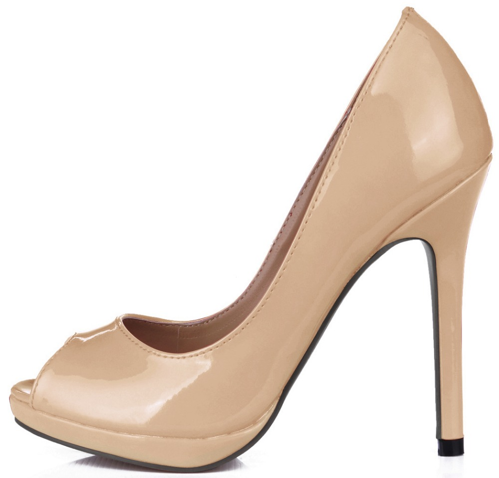 Plus Size 35-43 summer party dress fashion shoes woman sexy open toe high heels platform pumps women patent leather shoe big size 32 43 fashion party shoes woman sexy high heels platform summer pumps ankle strap sandals women shoes