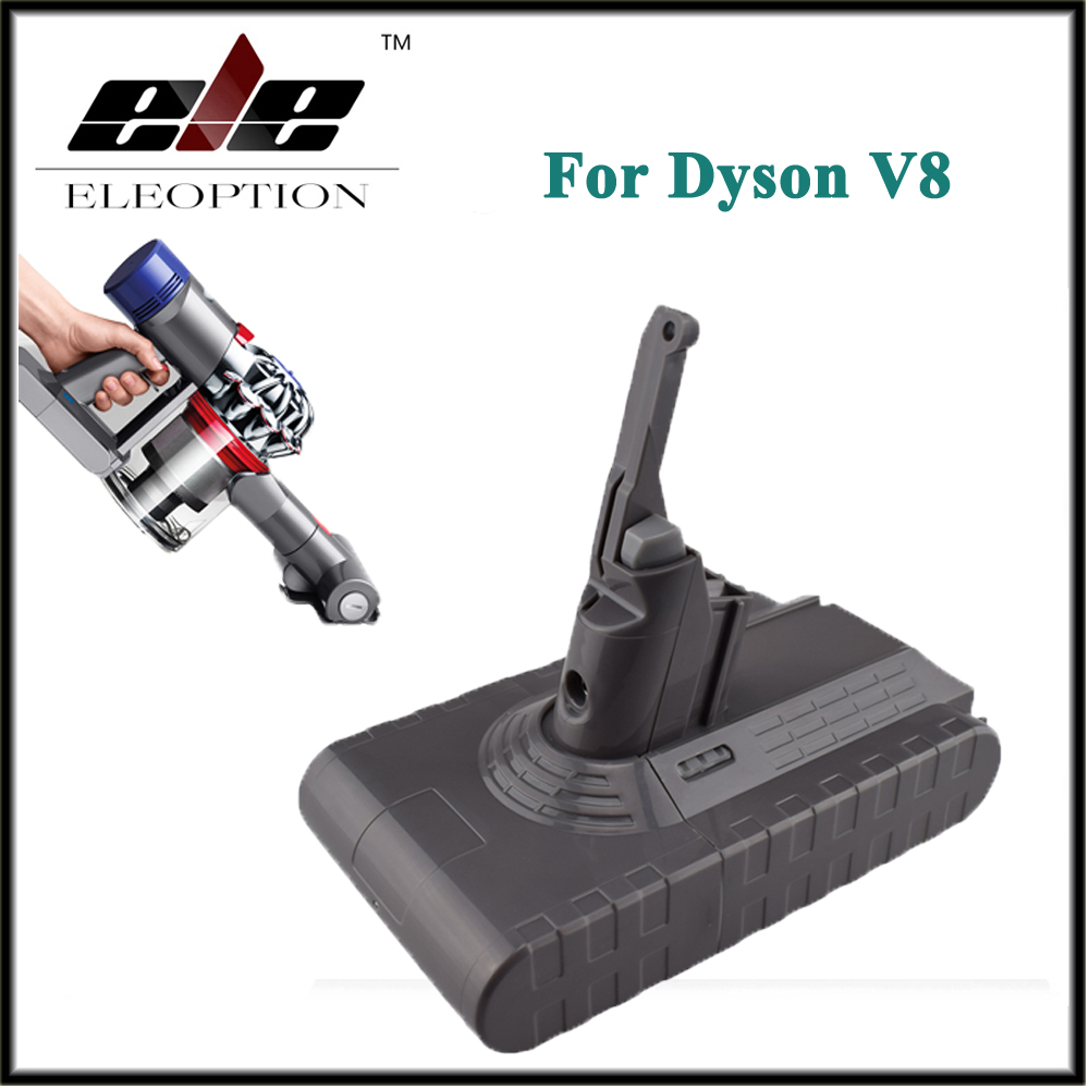 Eleoption High Quality 21.6V 2800mAh /  60.48Wh Li-ion Rechargeable Battery Pack For Dyson V8 Series eleoption 2pcs 18v 3000mah li ion power tools battery for hitachi drill bcl1815 bcl1830 ebm1830 327730