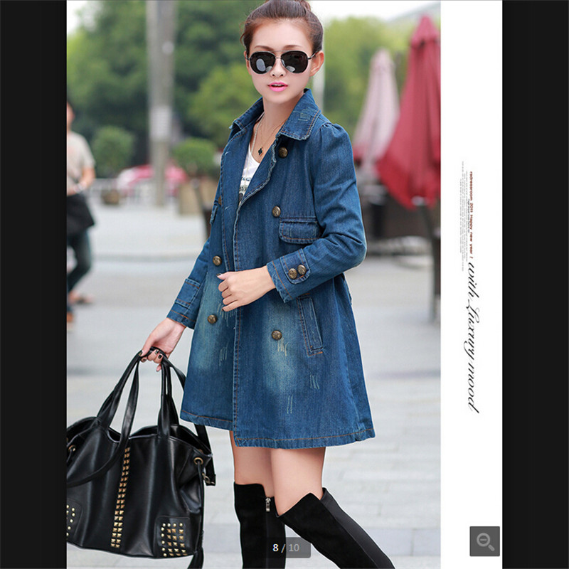 Latest Women Tops Bomber Jacket Jean Jacket High Quality Han Edition