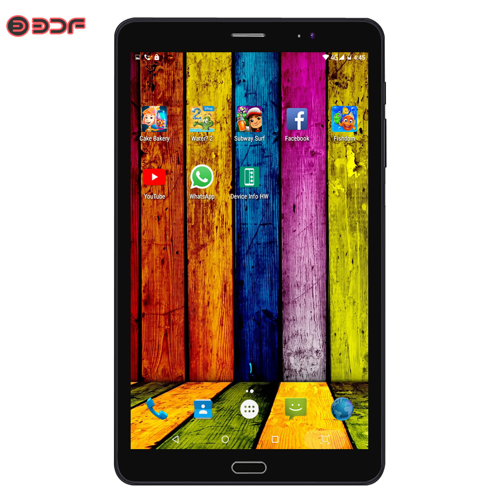 BDF 8 Inch 3G WiFi SIM Card Mobile Phone Call Tablet Pc Quad Core Android 6.0 Tablets Pc 2GB +16GB Storage 5Mp+12Mp High Cameras