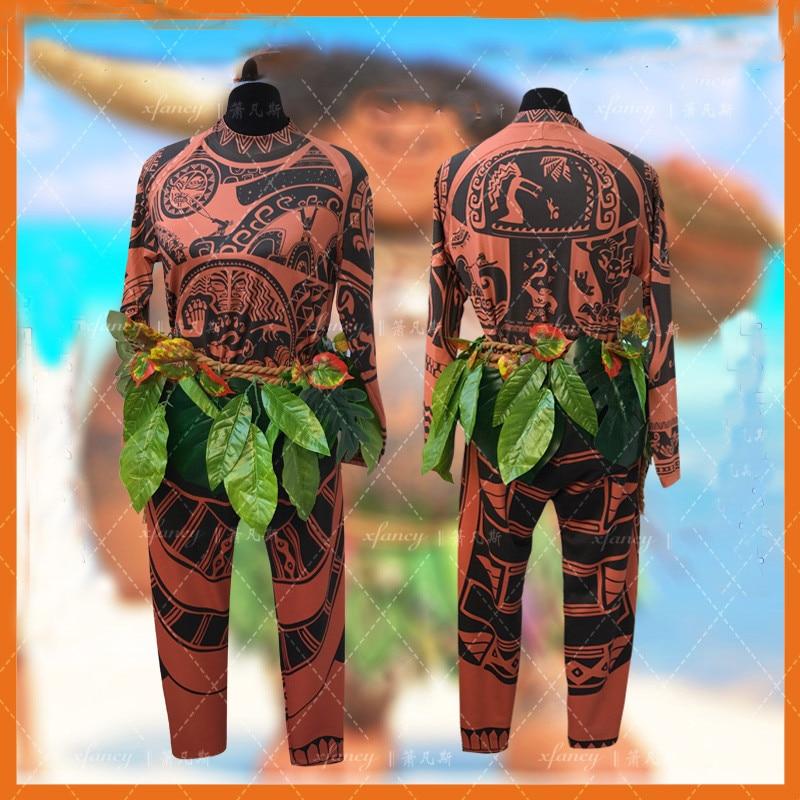 Adulte homme Halloween cosplay Maui tatouage Cosplay sweat haut ou pantalon tenue et