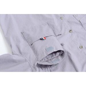 Image 3 - קצר שרוול דיג מזדמן חולצות הפתילה בד שמש הגנת מהיר יבש חיצוני גברים של קיץ חולצות לנשימה קמפינג חולצות