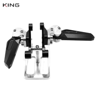 For Yamaha XMAX 250 XMAX 300 X MAX 400 X MAX 125 2017 2018 rear foot pegs foot rest passenger footrests set foldable