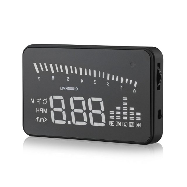 3 Inch Automatic Car OBD II X5 Car HUD Head Up Display Projector Warning MPH LED Windshield Alarm System