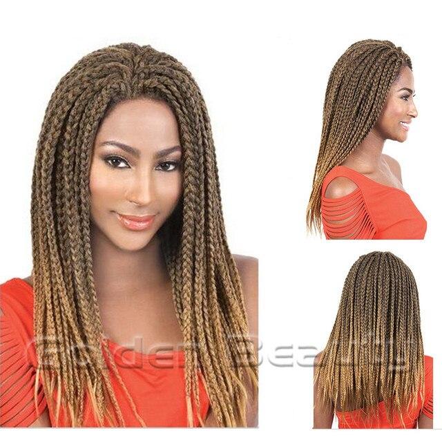 18inch Medium Length Aliexpress Hair Ombre Box Braids Hair