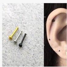 5 шт./упак. маленькие серьги-гвоздики в виде пирсинга носа Женская мода украшения для пирсинга носа Pin мини Сережка для пирсинга носа
