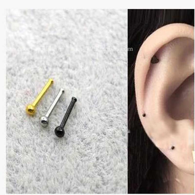 5ชิ้น/แพ็คสตั๊ดขนาดเล็กต่างหูจมูกเครื่องประดับเจาะผู้หญิงแฟชั่นเครื่องประดับเจาะขาจมูกมินิจมูกสตั๊ด