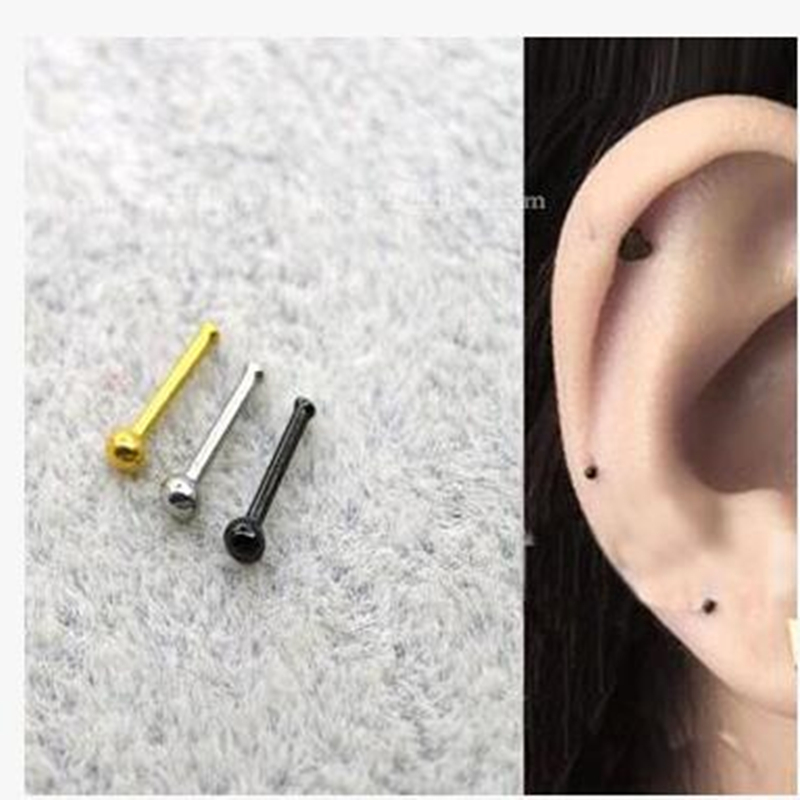 5PCS/PACK Small Stud Earrings Nose Piercing Jewelry Woman Fashion Piercing Jewelry Nose Pin Mini Nose Stud