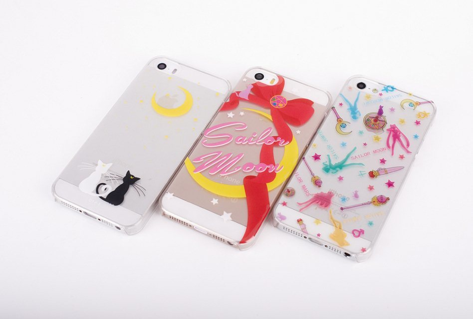 New listing hot sale cartoon sailor moon phone case for iphone5 5S plastic phone shell moon cat cell phone case free shipping