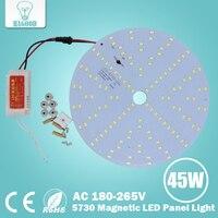 7W 10W 15W 18W 20W 25W AC 85 265V Magnetic LED Ceiling Light LED Board Panel