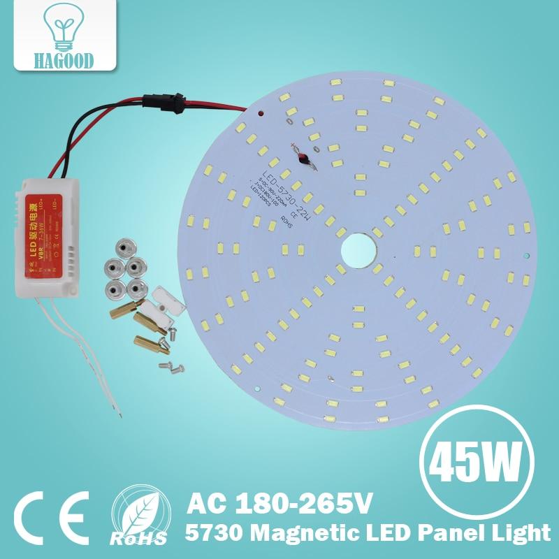 DIY LED Ceiling Light Panel Board 5730 Chip Warm/Cold White Round Shape One Set 10W 15W 18W 20W 25W 35W 45W AC 180 -265V