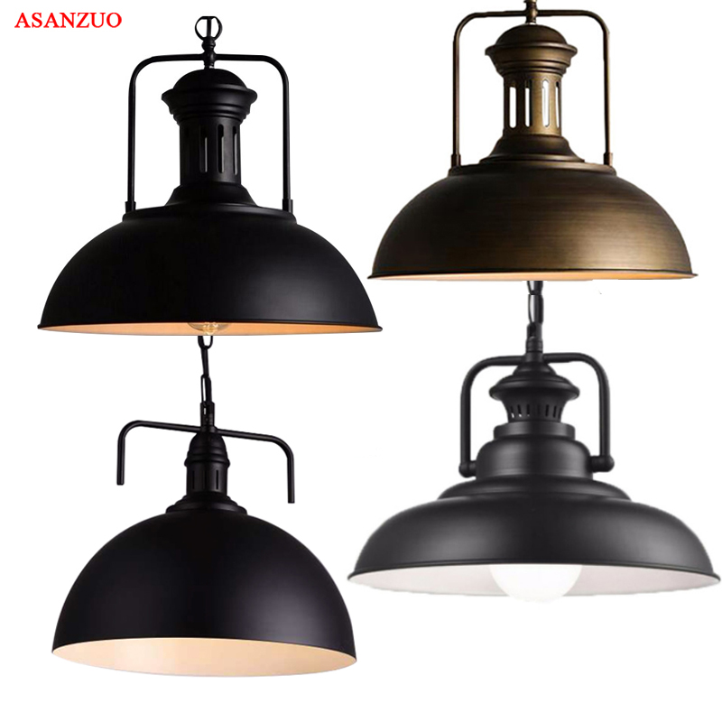 Industrial Pendant Lights Loft Lamparas Retro Hanging Lamp For Restaurant /Bar/Coffee Shop Home E27 Light Fixtures edison retro industrial pendant lamp light loft hanging ceiling lamp e27 holder restaurant hallway hotel bar home decoration