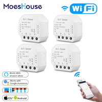 DIY WiFi Smart LED Dimmer Light Switch Universal Breaker Smart Life/Tuya APP Remote Control Works with Alexa Google Home