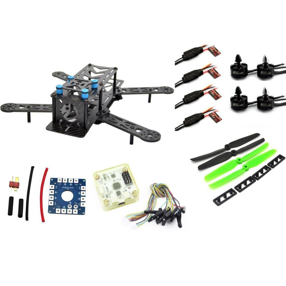 ФОТО RC plane ZMR 250PRO drone with camera dron fpv drones quadcopter Combo kit motor MT2204, 12A ESC,CF Prop & CC3D EVO quadrocopter