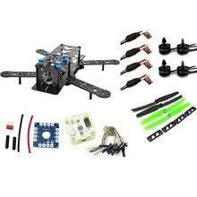 RC avión ZMR 250PRO drones fpv drone con cámara dron quadcopterCombo kit motor MT16-S, 12A ESC, CF Prop & CC3D EVO vuelo AZUL