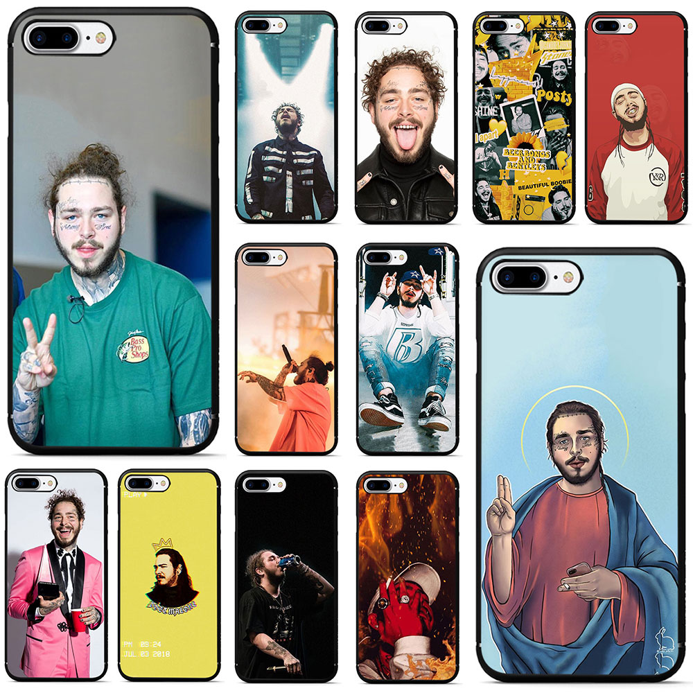 post malone Soft TPU Phone Case for iPhone 5 5s 6 6s 7 8 Plus X XR XS MAX image