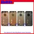 Металл Ближний Рамка Крышка Батарейного Отсека Для iPhone 5S, как до 6 6 мини-стиль Вернуться Корпус Для iPhone 5S Замены для iPhone 6 Жилья